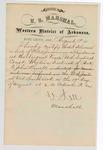 1880 August 19: Letter of certification, from V. Dell, U.S. marshal, certifying his deliverance of list of petit jurors for U.S. v. John Howell