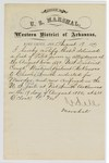 1880 August 19: Letter of certification, from V. Dell, U.S. marshal, certifying his deliverance of list of petit jurors for U.S. v. Charles Smith, murder