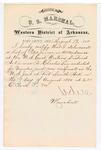 1880 August 19: Letter of certification, from V. Dell, U.S. marshal, certifying his deliverance of list of petit jurors for U.S. v. Charles Lee, murder