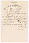 1880 August 19: Letter of certification, from V. Dell, U.S. marshal, certifying his deliverance of list of petit jurors for U.S. v. Lurn Smith, murder