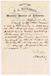 1880 August 19: Letter of certification, from V. Dell, U.S. marshal, certifying his deliverance of list of petit jurors for U.S. v. Charles Davis, murder