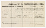 1880 August 24: Voucher, U.S. v. Joe Smith and One Lom, larceny; includes cost of per diem and mileage; Robert Cobb, witness; J.M. Huffington, witness of signatures; V. Dell, U.S. marshal; James Brizzolara, commissioner