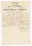 1880 August 27: Letter of certification, from V. Dell, U.S. marshal, certifying his deliverance of list of petit jurors for U.S. v. W.A.J. Finch, murder
