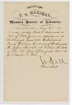 1880 August 27: Letter of certification, from V. Dell, U.S. marshal, certifying his deliverance of list of petit jurors for U.S. v. John Howell
