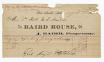 1880 August 31: Voucher, to Baird House, Dr. J. Baird, proprietor; includes cost of feeding jury and bailiff; V. Dell, U.S. marshal