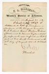 1880 August 21:  Letter of certification, from V. Dell, U.S. marshal, certifying his deliverance of list of petit jurors for U.S. v. Marion Taylor, rape