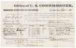1880 September 4: Voucher, U.S. v. John W. Dare, larceny in the Indian Country; includes cost of per diem and mileage; Alfred Victory, Joseph Nail, Hugh Hamilton, George W. Huddleston, and Joseph W. Hudson, witnesses; J.W. Huffington, witness of signatures; V. Dell, U.S. marshal; William H.H. Clayton, U.S. attorney; Stephen Wheeler, commissioner