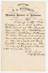 1880 September 8: Letter of certification, from C.C. Ayers, U.S. deputy marshal, certifying his deliverance of list of petit jurors for U.S. v. John Finch, murder