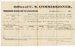 1880 September 9: Voucher, U.S. v. Brooks Crebbs, retail liquor dealer without paying special tax; includes cost of per diem and mileage; Thomas Watson, witness; J.M. Huffington, witness of signature; V. Dell, U.S. marshal; James Brizzolara, commissioner