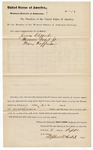 1880 September 11: Venire facias, commanding the summons of James Clifford, Theodore Vogel, and Henry Hoffman, as jurors; Stephen Wheeler, clerk; Isaac C. Parker, judge; V. Dell, U.S. marshal; J.M. Huffington, special deputy marshal