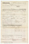 1880 October 12: Partial Voucher, U.S. v. Mrs. Belsted, retail liquor dealer in the Indian Country; includes cost of warrant, mileage, and feeding prisoner; J.M. Weir, posse comitatus; F.R. Bowling, U.S. deputy marshal; J.M. Weir, Ed Riley, John Boston, and Rose McQuinn, witnesses; James Brizzolara, commissioner
