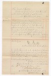 1880 October 4: Voucher, to J.E. Bennett; includes cost for services rendered and medicine furnished as physician to U.S. prisoners; V. Dell, U.S. marshal; Stephen Wheeler and G.S. Williams, clerks