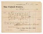 1880 October 1: Voucher, to E.H. Reeves; includes cost of services rendered as bailiff to the U.S. district court; V. Dell, U.S. marshal; Stephen Wheeler, clerk