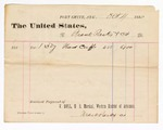 1880 October 4: Voucher, to Frank Parks and Co.; includes cost for hand cuffs; V. Dell, U.S. marshal