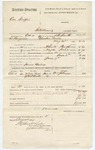 1880 October 11: Voucher, U.S. v. One Griffin, introducing spirituous liquors in the Indian Country; includes cost of warrant, mileage, and feeding one prisoner; James Bailer, posse comitatus; J.H. Smith, U.S. deputy marshal; William Johnson, witness; Stephen Wheeler and G.S. Williams, clerks