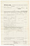 1881 February 4: Partial Voucher, U.S. v. William Ellison, larceny in the Indian Country; includes cost of warrant, mileage, and feeding prisoner; J.T. Ayers, U.S. deputy marshal; Bass Reeves, posse comitatus; J.R. Thompson, guard; John Roff and J.C. Washington, witnesses; Stephen Wheeler, commissioner
