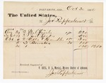 1880 October 30: Voucher, to Jac Rappenheimer; includes cost of steel shovels, jail locks, axes and handles, and brushes for the U.S. jail; V. Dell, U.S. marshal