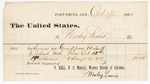 1880 October 30: Voucher, to Wesley Lewis; includes cost of services as guard from Fort Smith, Arkansas to Detroit, Michigan; V. Dell, U.S. marshal