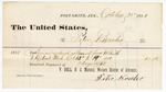 1880 October 30: Voucher, to Peter Bruder; includes cost of services as guard from Fort Smith, Arkansas to Detroit, Michigan; V. Dell, U.S. marshal