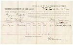 1880 November 17: Voucher, U.S. v. Benjamin Rippetor, larceny in the Indian Country; includes cost of per diem and mileage; James Rownel, witness; V. Dell, U.S. marshal; E.B. Harrison, commissioner
