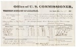 1880 November 17: Voucher, U.S. v. R.L. Hill, detaining letters in the post office; includes cost of per diem and mileage; O.B. Donaldson, J.W. Depriest, W.J. Beck, A.J. Haney, and W.H. Oliver, witnesses; William H.H. Clayton, U.S. district attorney; V. Dell, U.S. marshal; James Brizzolara, commissioner