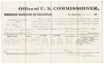 1880 November 26: Voucher, U.S. v. One Hatt, retail dealer in leaf tobacco not paying special tax; includes cost of per diem and mileage; James Vail, Joseph Colbert, and Dick Nail, witnesses; E.H. Reeves, witness of signatures; V. Dell, U.S. marshal; James Brizzolara, commissioner