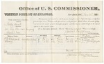 1880 November 26: Voucher, U.S. v. Andy Duck, retail liquor dealer not paying special tax; includes cost of per diem and mileage; T.B. Hitchcock and Chooey, witnesses; J.M. Huffington, witness of signatures; V. Dell, U.S. marshal; James Brizzolara, commissioner