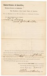 1880 November 27: Venire facias, commanding the summons of W.N. Ayers and John Houston, as petit jurors; Stephen Wheeler, clerk; Isaac C. Parker, judge; V. Dell, U.S. marshal; Augustus Bristal, U.S. special deputy