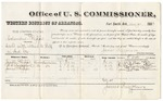 1880 December 9: Voucher, U.S. v. Columbus Phipps, assault with intent to kill in Indian Country; includes cost of per diem and mileage; Joseph Phipps, U.S. Pressgrove, and James Phipps, witnesses; E.H. Reeves, witness of signatures; V. Dell, U.S. marshal; James Brizzolara, commissioner