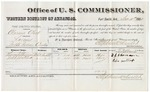 1880 December 11: Voucher, U.S. v. Clarence Clark, larceny in the Indian Country; includes cost of per diem and mileage; Thomas J. Shannon and John Mattock, witnesses; V. Dell, U.S. marshal; Stephen Wheeler, commissioner