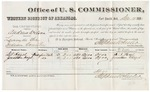 1880 December 13: Voucher, U.S. v. Andrew Wilson, larceny in the Indian Country; includes cost of per diem and mileage; D.A. Hazel and Jonathan Hazel, U.S. marshal; V. Dell, U.S. marshal; Stephen Wheeler, commissioner