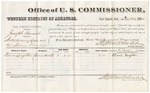 1880 December 22: Voucher, U.S. v. Joseph Barnett, introducing liquors into the Indian Country; includes cost of per diem and mileage; V. Dell, U.S. marshal; Stephen Wheeler, commissioner