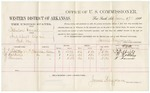 1881 January 17: Voucher, U.S. v. Zebelon Vance, introducing spirituous liquors in Indian Country; R. Tiffitts, W. Walling, and J. Farmin, witnesses; V. Dell, U.S. marshal; James Brizzolara, commissioner