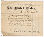 1881 January 1: Voucher, to V. Dell, U.S. marshal; includes cost for services rendered as marshal in attendance at November Term