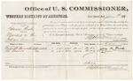 1881 January 6: Voucher, U.S. v. Isaac Fish, murder in the Indian Country; includes cost of per diem and mileage; George H. Pancake and Eli Rogers, witnesses; G.H. Williams, witness of signature; V. Dell, U.S. marshal; Stephen Wheeler, commissioner