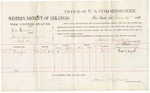 1881 January 15: Voucher, U.S. v. One George, introducing spirituous liquors in Indian Country; includes cost of per diem and mileage; Fred T. Dwight, witness; V. Dell, U.S. marshal; James Brizzolara, commissioner