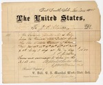 1881 February 3: Voucher, to J.P. Clarke; includes cost for services rendered as crier before the United States district court; Stephen Wheeler and G.H. Williams, clerks; V. Dell, U.S. marshal