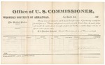 1881 April 8: Voucher, U.S. v. Anderson Butler, larceny; includes cost of per diem and mileage; Andrew McElfield and Sophia McElfield, witnesses; E.W. Doelahide, witness of signatures; V. Dell, U.S. marshal; Zara L. Cotton, commissioner