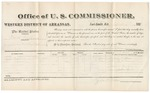 1881 April 9: Voucher, U.S. v. Mack Williams, assault with intent to kill; includes cost of per diem and mileage; Frank Williams and Ann Johnson, witnesses; John Ayers, witness of signatures; V. Dell, U.S. marshal; Zara L. Cotton, commissioner