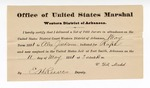 1881 May 11: Letter of certification, from V. Dell, U.S. marshal, certifying his deliverance of list of petit jurors for U.S. v. Alex Jackson, rape; E.H. Reeves, deputy