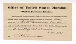 1881 May 11: Letter of certification, from V. Dell, U.S. marshal, certifying his deliverance of list of petit jurors for U.S. v. Pat McGowan, murder; E.H. Reeves, deputy