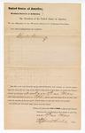1881 May 17: Venire facias, commanding the summons of Charles Fleming, as petit juror; Isaac C. Parker, judge; Stephen Wheeler, clerk; V. Dell, U.S. marshal; John M. Caldwell, deputy