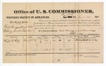 1881 June 24: Voucher, U.S. v. Philip Carigan and Henry Foster, robbing United States mail; includes cost of per diem and mileage; Mumford H. Coday, witness; V. Dell, marshal; E.B. Harrison, commissioner