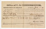 1881 July 5: Voucher, U.S. v. G.C. Young, assault with intent to kill in Indian Country; includes cost of per diem and mileage; Laura A. Gray and John Burness, witnesses; G.H. Williams, witness of signatures; V. Dell, marshal; Stephen Wheeler, commissioner