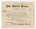 1881 July 5: Voucher, to Samuel Peters; includes cost of services rendered as bailiff before the U.S. court; V. Dell, U.S. marshal; Stephen Wheeler and S.A. Williams, clerk