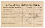 1881 July 19: Voucher, U.S. v. John Beason, assault with intent to kill in Indian Country; includes cost of per diem and mileage; Carrie Thomas and Mary Albert, witnesses; G.H. Williams, witness of signatures; V. Dell, U.S. marshal; Stephen Wheeler, commissioner