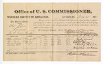 1881 July 21: Voucher, U.S. v. Alex Felix, larceny in the Indian Country; includes cost of per diem and mileage; Wiley Stewart, Ben Nail, Henry Jackson, and Charley Hill, witnesses; G.H. Williams, witness of signatures; V. Dell, U.S. marshal; Stephen Wheeler, commissioner