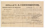 1881 July 21: Voucher, U.S. v. John Tuller, assault with intent to kill in Indian Country; includes cost of per diem and mileage; Dick Grimmith, Elijah Blue, and Reuben Eastman, witnesses; J.M. Huffington, witness of signatures; V. Dell, U.S. marshal; Stephen Wheeler, commissioner