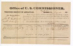 1881 July 21: Voucher, U.S. v. John G.A. Howard, violation of internal revenue laws; includes cost of per diem and mileage; John H. Sidwell and Leonard T. Allen, witnesses; V. Dell, U.S. marshal; E.B. Harrison, commissioner