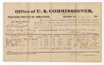 1881 July 22: Voucher, U.S. v. J.F. Bunchett, selling whiskey to Indians and violation of internal revenue laws; includes cost of per diem and mileage; Everette M. May, Mathias Nelson, Charles Jones, and John W. Alexander, witnesses; V. Dell, U.S. marshal; Stephen Wheeler, commissioner